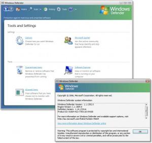 Windows Defender - náhled