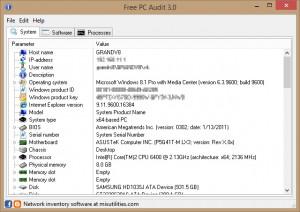 Free PC Audit - náhled