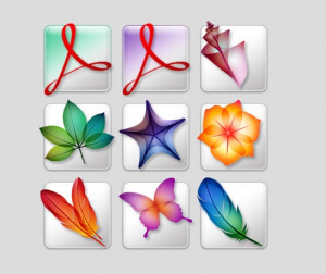 Adobe Creative Suite 2 icons - náhled