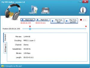 My MP3 Splitter - náhled