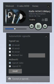 Rádio WOW Player - náhled