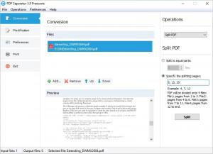 PDF Separator - náhled