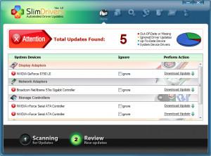 SlimDrivers - náhled
