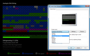 Auslogics Disk Defrag Screen Saver - náhled