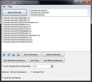 Vov Screensaver Changer - náhled