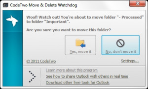 CodeTwo Move and Delete Watchdog - náhled