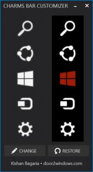 Windows 8.1 Charms Bar Customizer - náhled