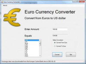 Euro Currency Converter - náhled
