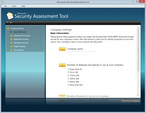 Microsoft Security Assessment Tool - náhled