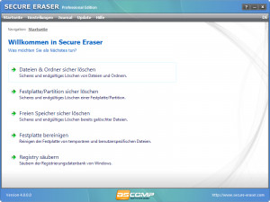 Secure Eraser - náhled