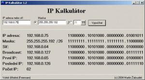 IP kalkulátor - náhled