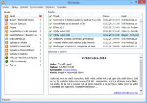 RSS čtečka - náhled