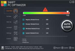 Swift PC Optimizer - náhled