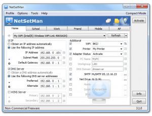 NetSetMan - náhled