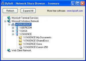 BySoft Network Share Browser - náhled