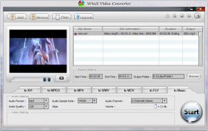 WinX Video Converter - náhled