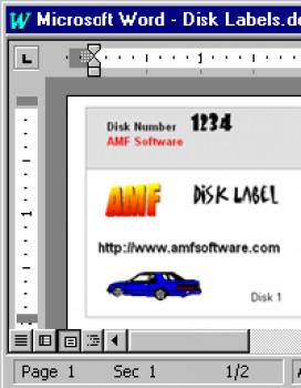 """3.5"""" Disk Label Creator - náhled"""