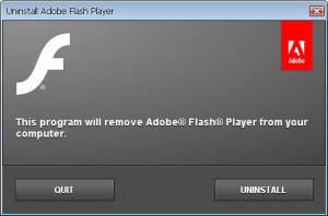 Adobe Flash Player Uninstaller - náhled