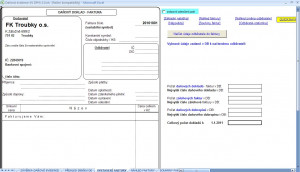 DE pro neplátce DPH - náhled