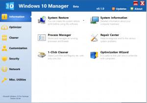 Windows 10 Manager - náhled