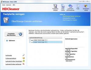 HDCleaner - náhled