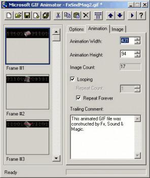MS GIF Animator - náhled