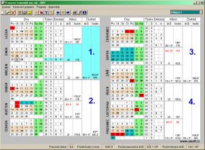 Pracovní kalendář - náhled