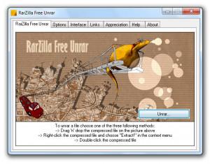 RarZilla Free Unrar - náhled
