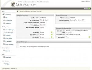 Cerberus FTP Server - náhled