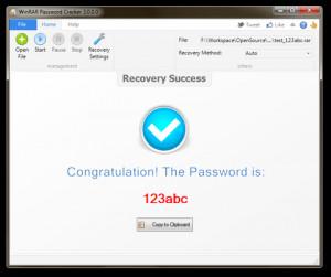 WinRAR Password Cracker - náhled