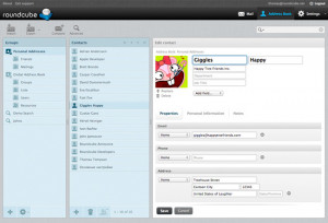 Roundcube Webmail - náhled