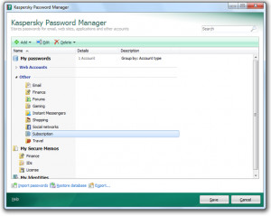 Kaspersky Password Manager  - náhled