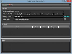 GitHub Folder Downloader - náhled