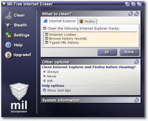 Mil Free Internet Eraser - náhled
