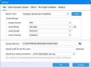 ThunderSoft Audio Recorder - náhled