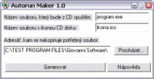 Autorun Maker - náhled