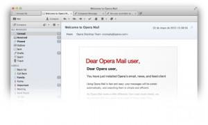 Opera Mail - náhled