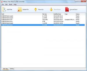 Free ePub to PDF Converter - náhled