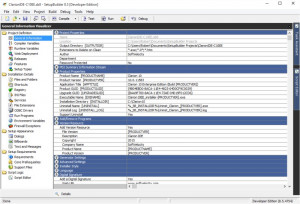 SetupBuilder Developer - náhled