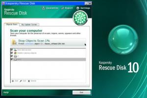 Kaspersky Rescue Disk - náhled