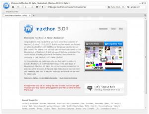 Maxthon - náhled