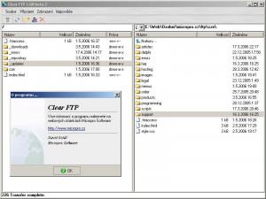 Clear FTP - náhled