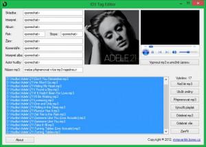 ID3 Tag Editor - náhled