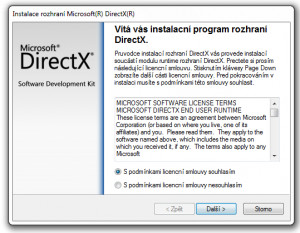 DirectX End-User Runtime - náhled