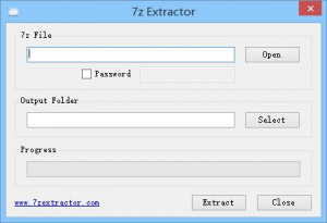 7z Extractor - náhled