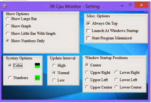 3R CPU Monitor - náhled