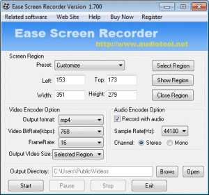 Ease Screen Recorder - náhled