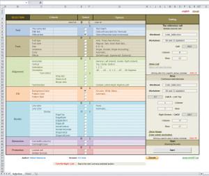 Sofistikovaná selekce buňek v Excelu - náhled