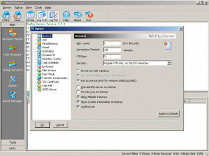 Wing FTP Server - náhled