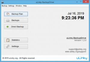 uLinky BackupDrive - náhled